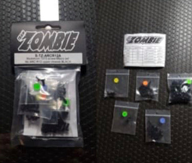 TZSARCR12 - Team ZOMBIE Screw Set ARC R12 - High Gloss Black Alloy