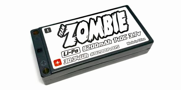 Team Zombie 8200mah 140c 1s Lipo Battery 2021 TEAM SPEC WHITE EDITION