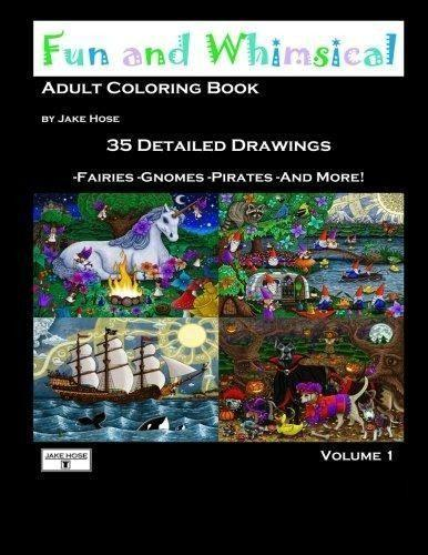 adult coloring books, books, halloween, childrens, whimsical, art, Jake Hose