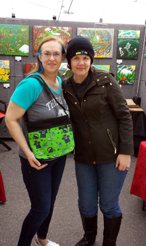 Kimali Tote bag, Kimberly style, featuring Seattle Seahawks football fan imagery, 12th man.