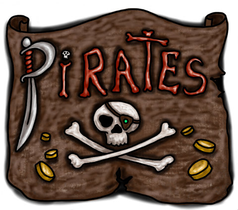 Pirates whimsical art