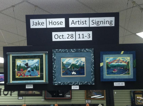 Artist Jake Hose at Ben Franklin Bonney Lake Washington