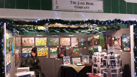 Jake Hose whimsical art booth at the Victorian Country Christmas