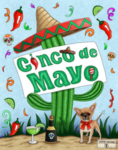 Cinco De Mayo with Cactus art by Jake Hose