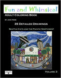 Fun and Whimsical Volume 3 Adult coloring book by whimsical artist Jake Hose