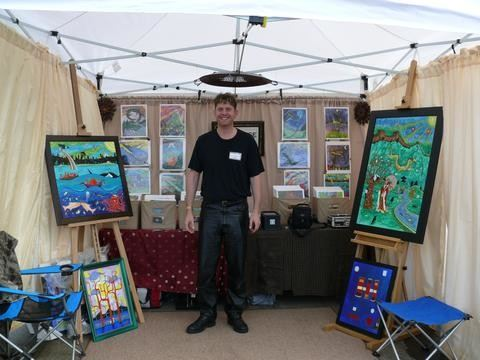 Jake Hose art booth