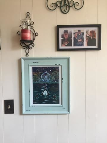 Love Under the Wheel framed whimsical art by Jake Hose