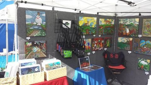 Jake Hose whimsical art booth