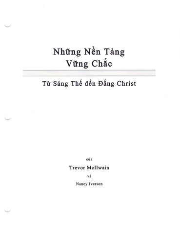 Vietnamese - Firm Foundations Creation to Christ (Print)
