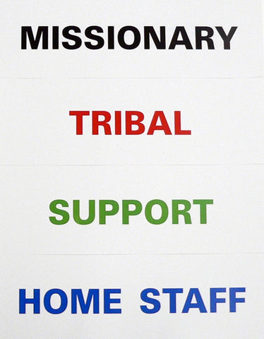 Missionary Skit Cards laminated