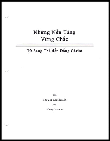 Vietnamese Firm Foundations Creation to Christ (Download)