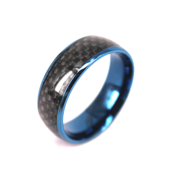 Carbon Fiber Ring - In Tungsten Carbide - P/N: 708744109187 - Overnight Composites