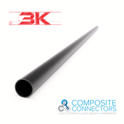 20mm Round OD x 18mm ID x 1mm Wall Section x 1 Meter- 3K Weave Round Carbon Fiber Tube (85.0 Grams) - PN 708744108289 - Overnight Composites