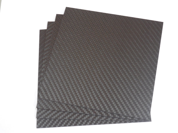 3K Weave 1Meter x 1Meter x 1mm Carbon Fiber Plate (1072.0 Grams) -708744109552 - Overnight Composites