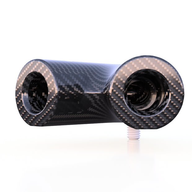 6mm Round 45º Connector -Used to Join 6mm 3K Carbon Fiber Tube (2.0 Grams) - PN 708744108005 - Overnight Composites