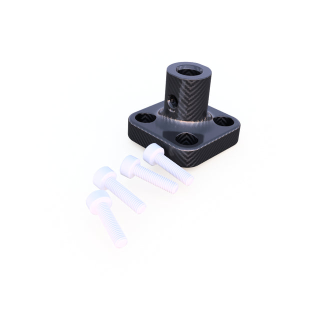6mm Round Vertical Mount Composite Connector (3.5 Grams) - PN 708744108197 - Overnight Composites