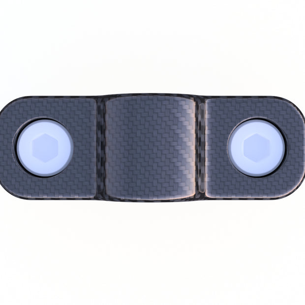 6mm Round Mounting Strap - Joins 3K 6mm Carbon Fiber Tubing to Everything Flat (1.0 Grams)- PN 708744108227 - Overnight Composites