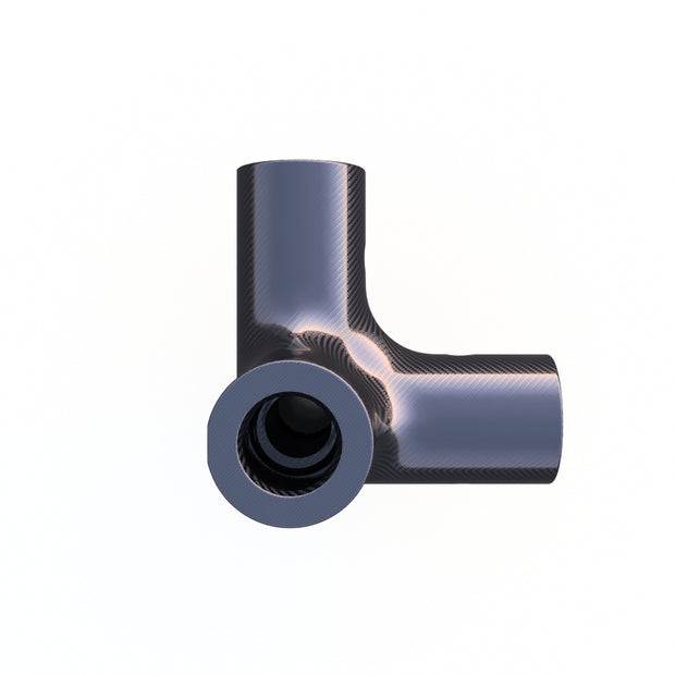 10mm Round 90º 4 - Way Corner Vertical Composite Connector (17.0 Grams) - PN 708744108319 - Overnight Composites
