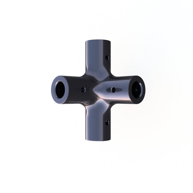 10mm Round 90º 6-Way Composite Connector (21.0 Grams) - PN 708744108340 - Overnight Composites
