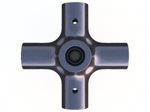 10mm Round 90º 6-Way Composite Connector - PN 708744108340