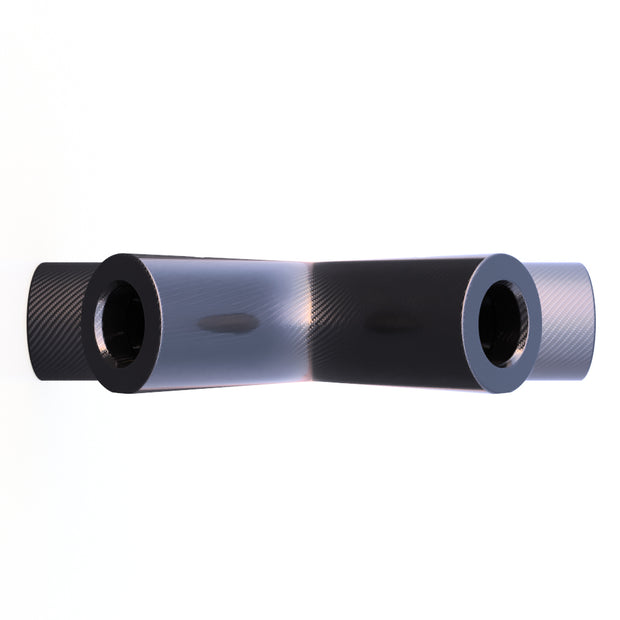 10mm Round 45 X 90º 4 - Way Composite Connector (15 Grams) - PN 708744108371 - Overnight Composites