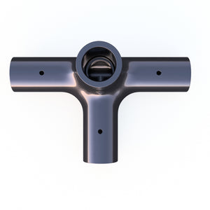 20mm Round 90º 4 - Way Corner Vertical Composite Connector - PN 708744108623