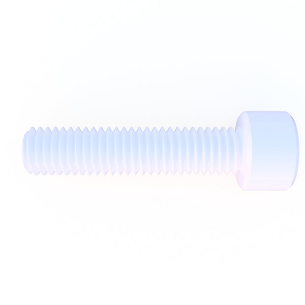 M8 x 30mm Diameter Nylon 6/6 Socket Head Cap Screw - (10) Pack (39.0 Grams) - PN 708744108814 - Overnight Composites