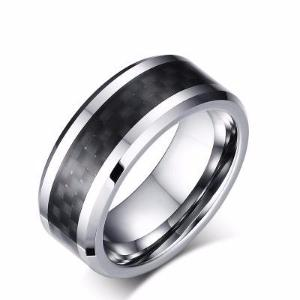 Sale - Tungsten Carbide Carbon Fiber Ring  Sizes 7-14-  (6.0 Grams) P/N: 708744109132 - Overnight Composites