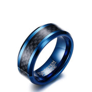 Carbon Fiber - In Blue Tungsten Carbide - P/N: 708744109149 - Overnight Composites