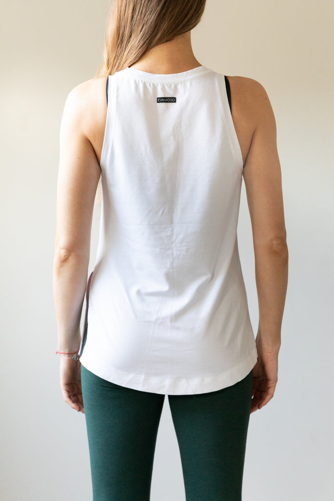 The Lucy- white vest made from TENCEL