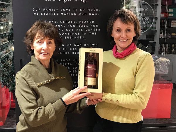 Toni and Sweet Caroline with Geraldo's Private Cask Whisky