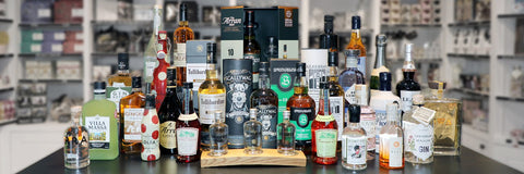 Craft Spirits including Scottish Gin, Scotch Whiskies, Rum, Cognac, Liqueurs and Wine.