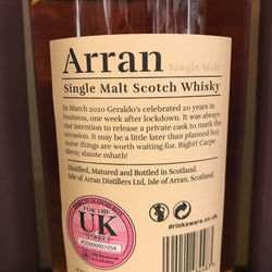 Geraldo's Private Arran Cask Whisky