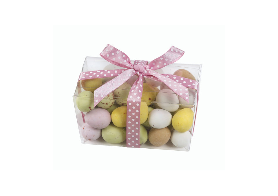 Belgian Chocolate Mini Eggs in Clear Ballotin - 25% OFF xx