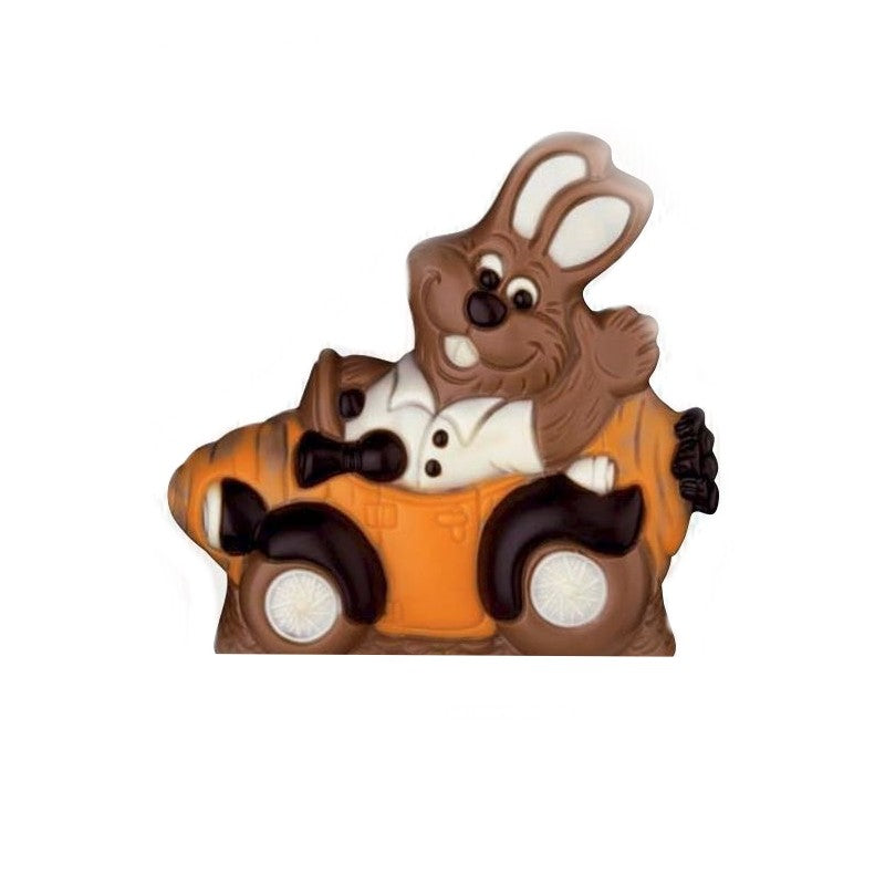 Chocolate Bunny in his Carrot Car xx