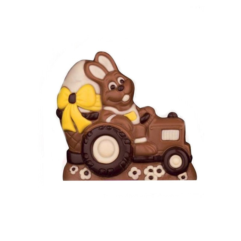 Chocolate Bunny in his Tractor xx