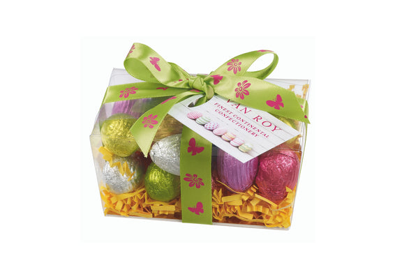 Chocolate Mini Eggs in Clear Ballotin
