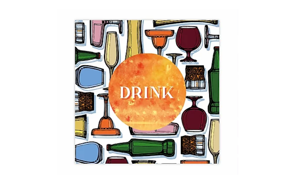 'Drink' Greetings Card (with magnet) xx