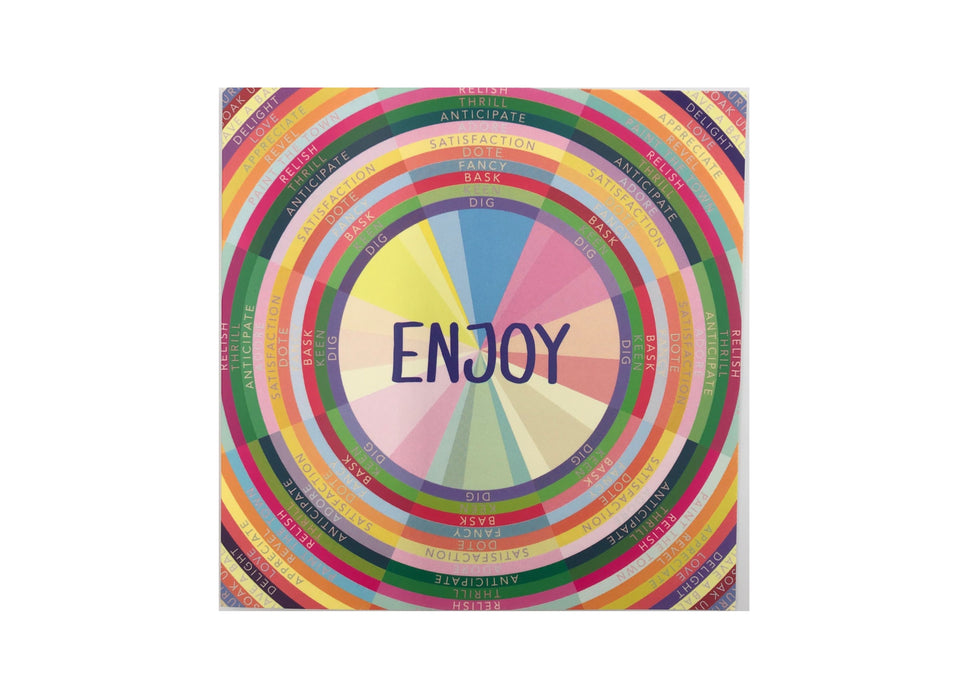 Enjoy Greetings Card (with magnet) xx