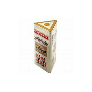 Twelve Days of Christmas Triangle Biscuit Git Tin