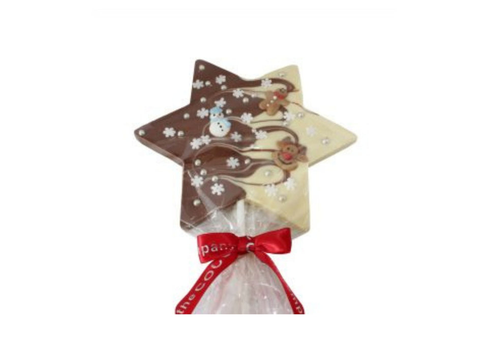 Giant Christmas Chocolate Lollies by Cocoabean xx