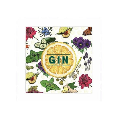 Gin Greetings Card (with magnet)