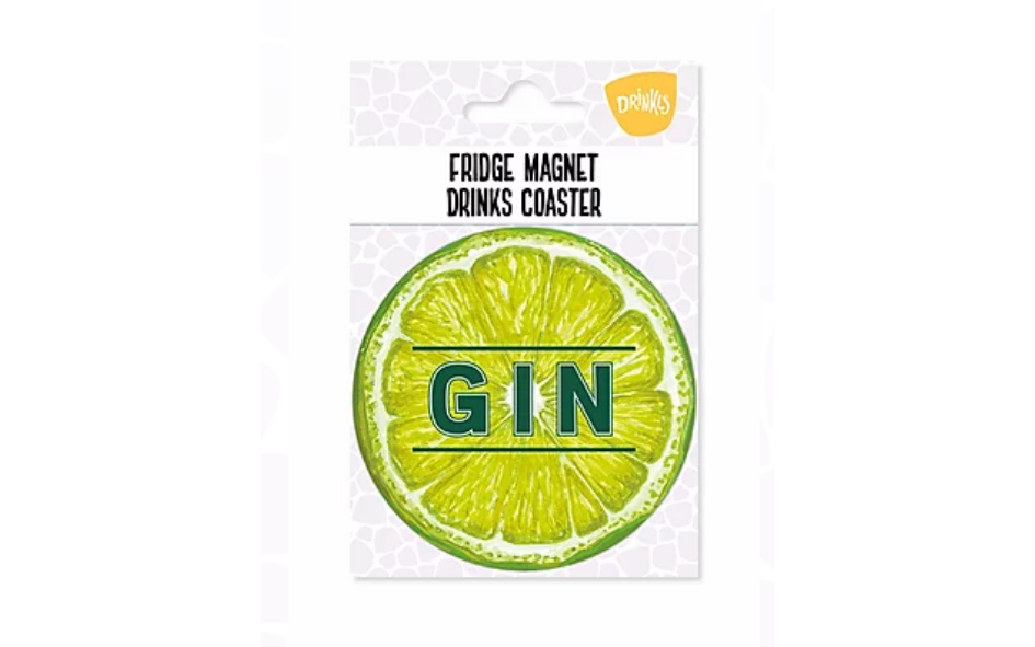 Gin Lime Fridge Magnet & Coaster xx