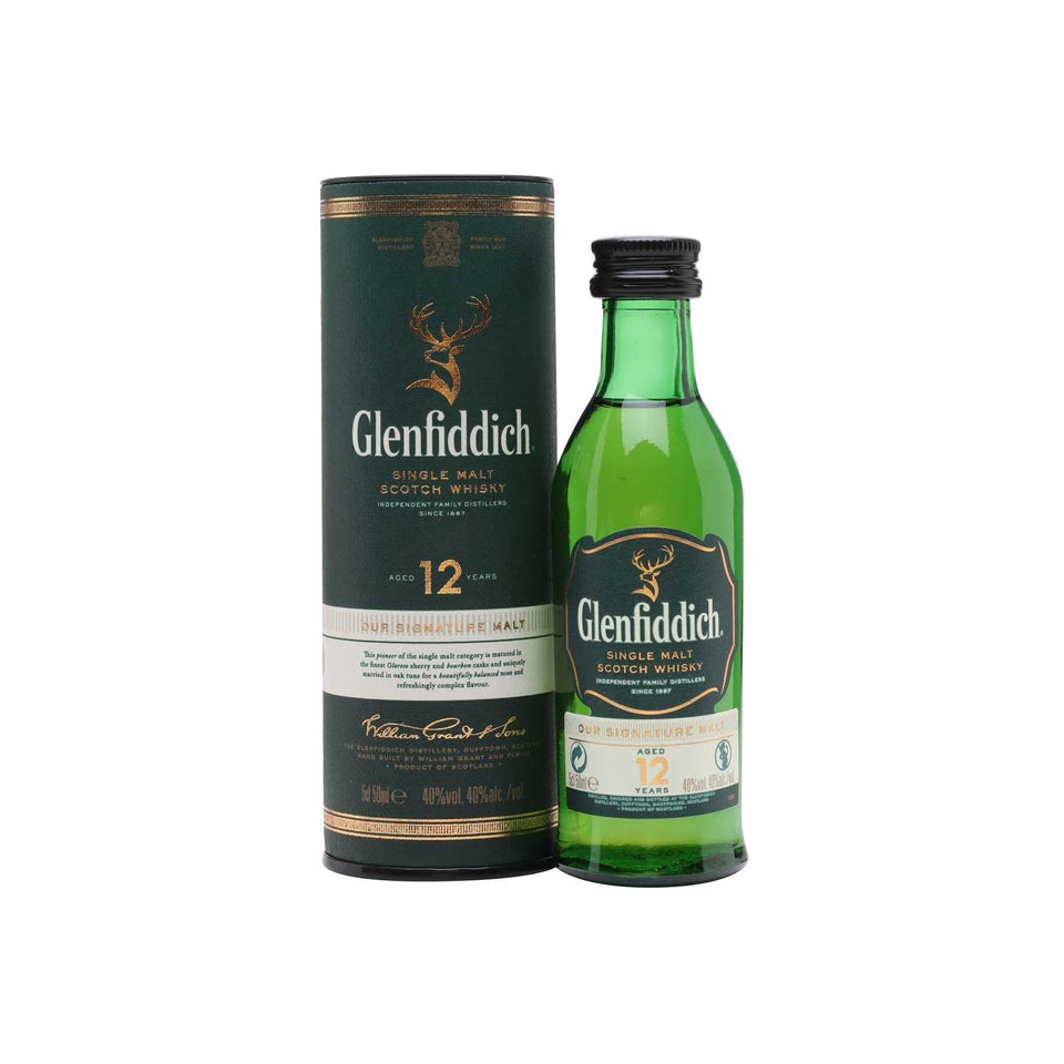 Glenfiddich 12 Year Old Whisky 5cl xx