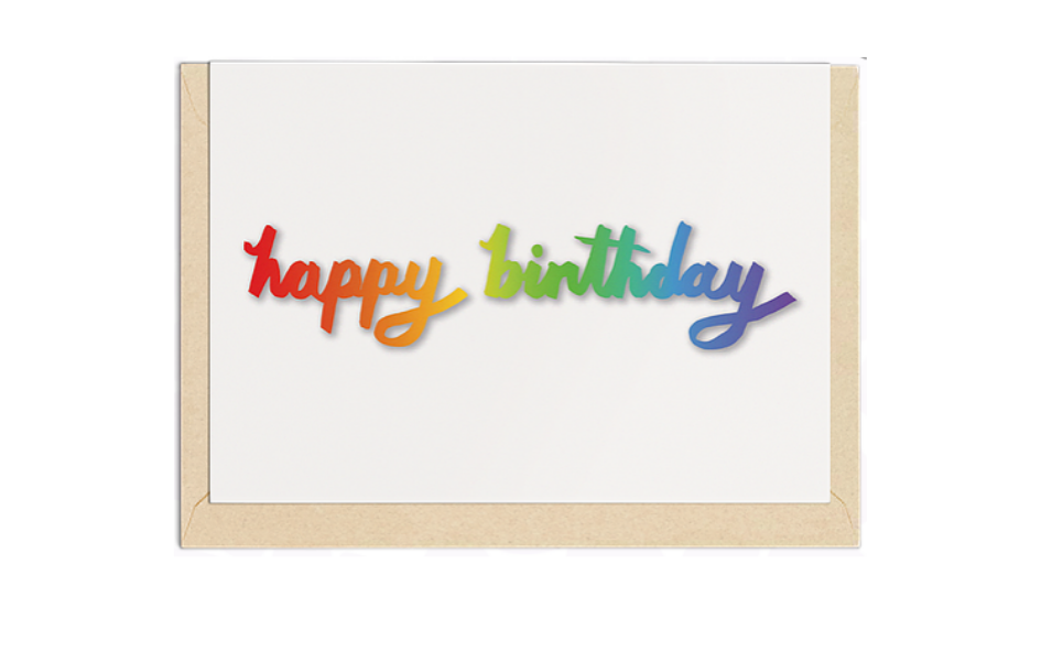 'Happy Birthday' Greetings Card xx