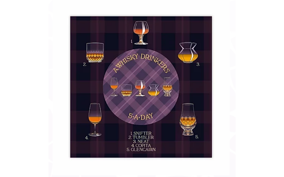 Whisky '5-A-Day' Greetings Card (with magnet) xx