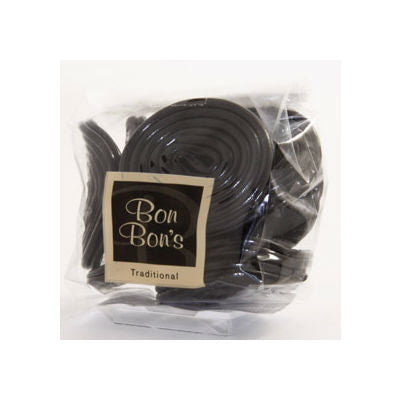 Liquorice Catherine Wheels from Bon Bons