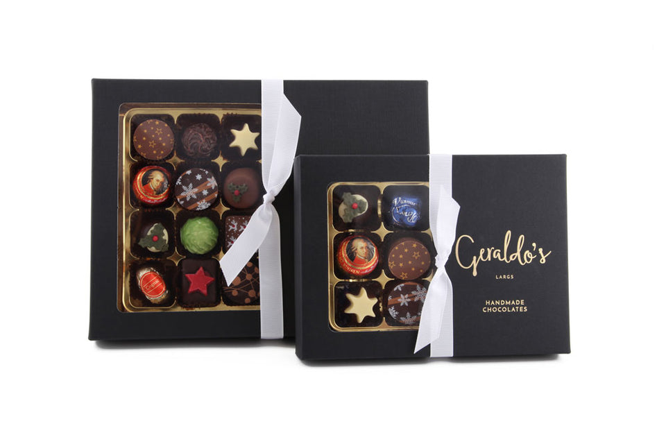 Christmas Deluxe Gift Box Of Handmade Chocolates