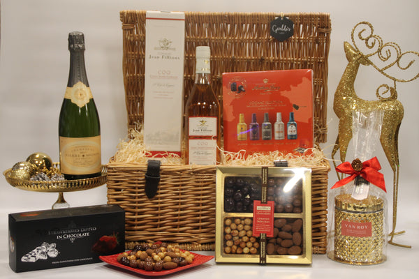 Festive Champagne and Cognac Celebration Gift Hamper