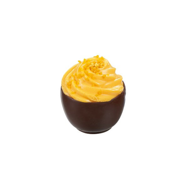 Mango Cupcake in Dark Chocolate